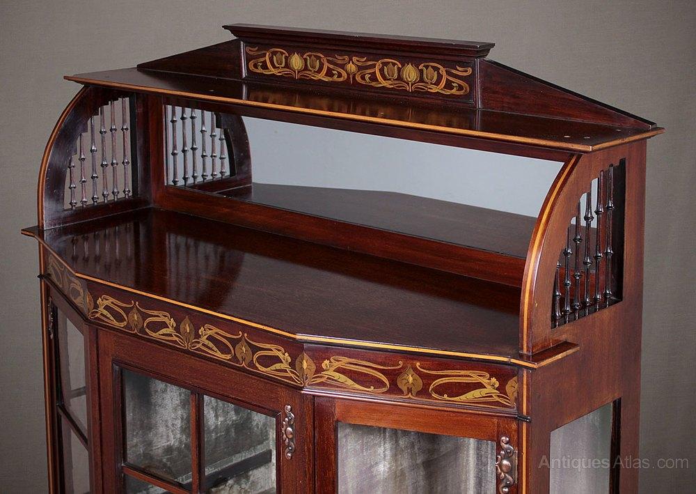 Art Nouveau Display Cabinet C 1905 Antiques Atlas