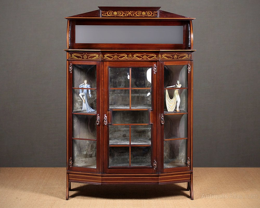 Art Nouveau Display Cabinet C 1905 Antiques Atlas