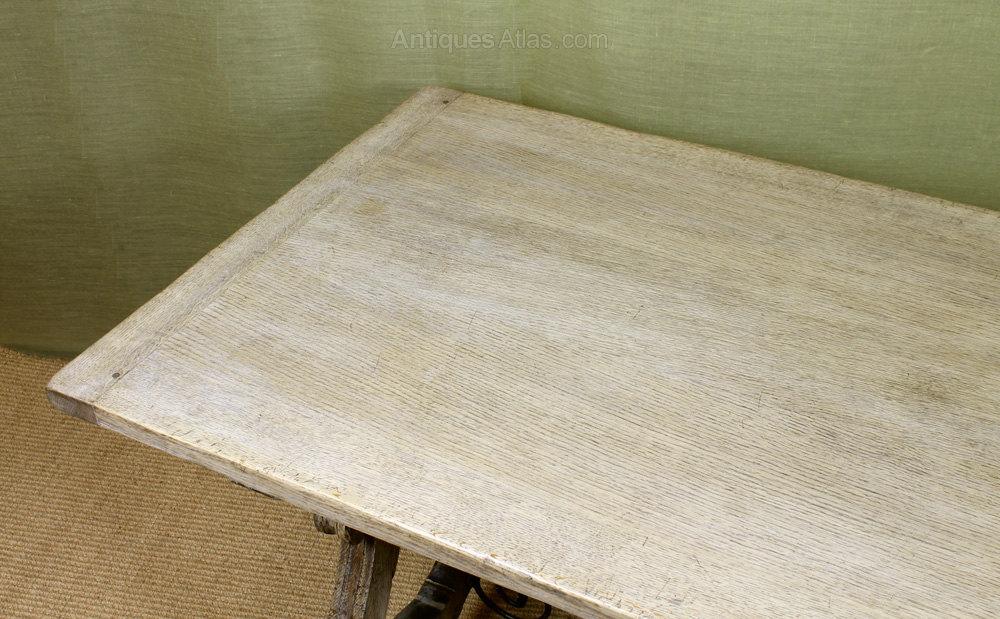 Bleached Oak Dining Table. Antique Farmhouse Tables Refectory Farmhouse  %%alt5%% ...
