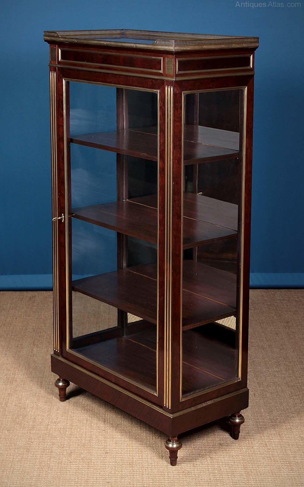 brass mounted vitrine display cabinet antiques atlas. Black Bedroom Furniture Sets. Home Design Ideas