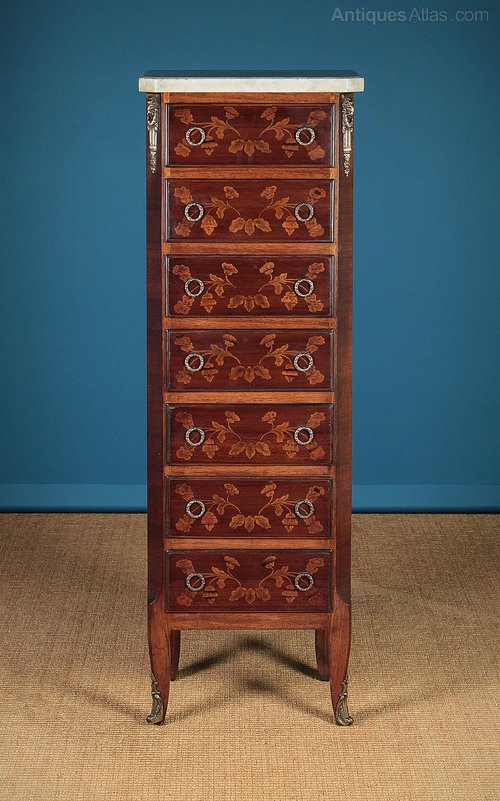 Early 20th c  French Semainier Chest Of Drawers  - Antiques