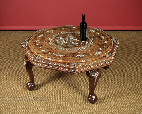 Excellent Indian Marquetry Inlaid Rosewood Coffee Table Antiques Atlas Inzonedesignstudio Interior Chair Design Inzonedesignstudiocom