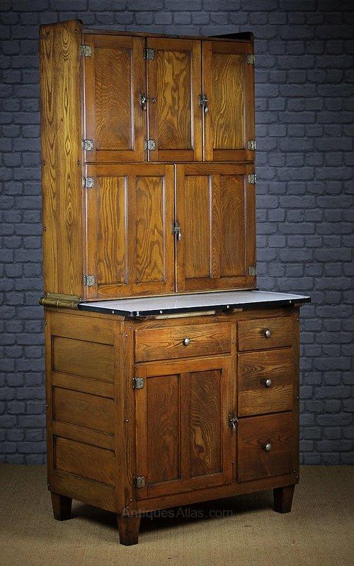Early 20th.c. Oak Easiwork Kitchen Cabinet C.1930 ...