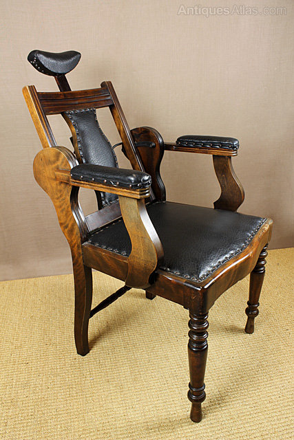 Edwardian Barbers Chair. - Edwardian Barber's Chair. - Antiques Atlas