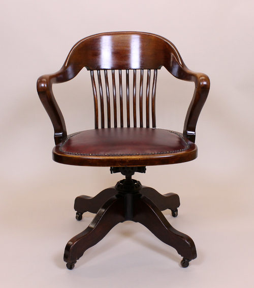 edwardian mahogany office desk chair c 1910 antiques atlas