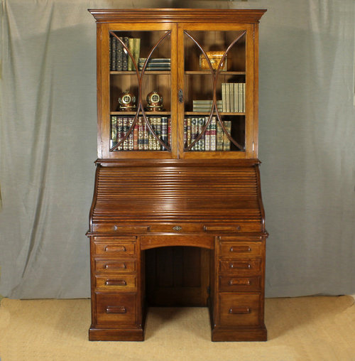 Magnificent Edwardian Roll Top Desk Bookcase Antiques Atlas Download Free Architecture Designs Scobabritishbridgeorg