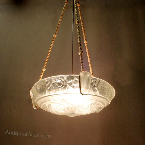 French Art Deco Hanging Light