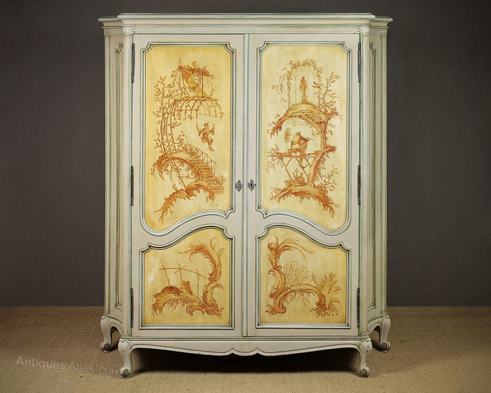 French Painted Wardrobe By Gouff 233 C 1930 Antiques Atlas