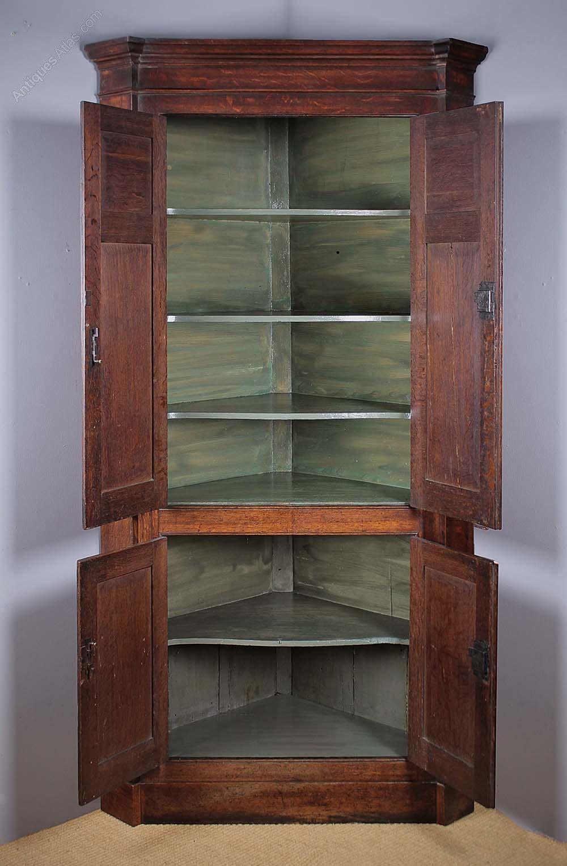 Full Height Oak Kitchen Corner Cupboard C 1810 Antiques