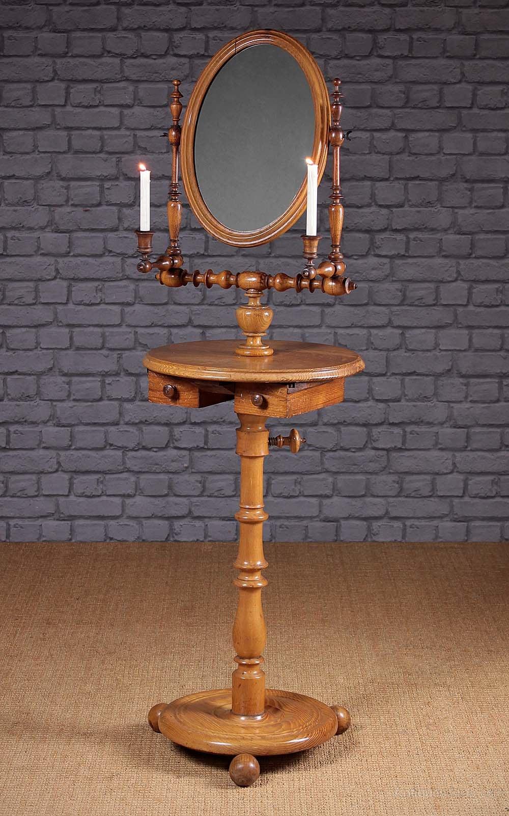 Gentleman S Shaving Mirror On Stand C 1880 Antiques Atlas
