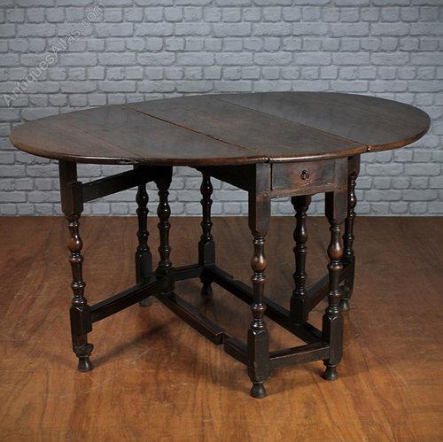 Georgian Oak Drop Leaf Table. Antique ...