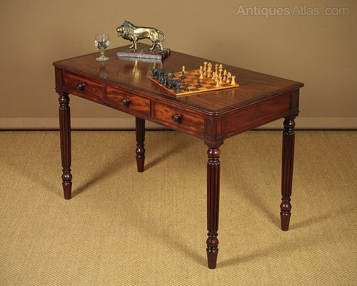 Coffee Table Desk.Gillows Style Mahogany Side Table Or Desk C 1820
