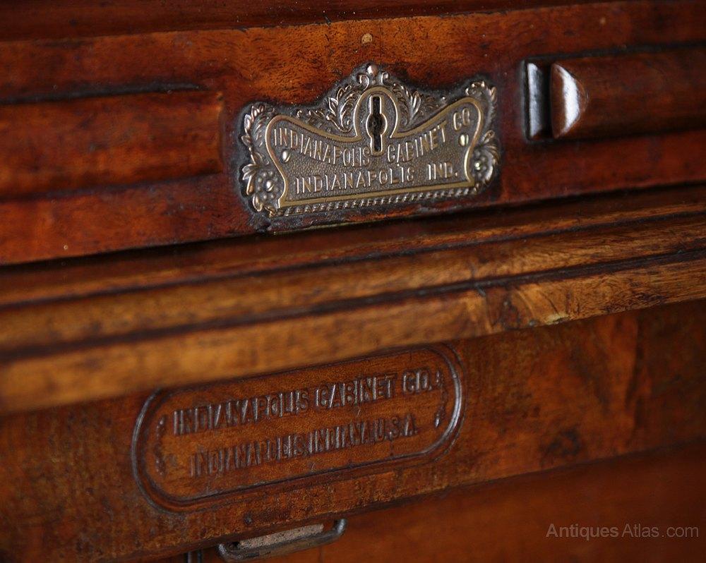 Indianapolis Cabinet Company Roll Top Desk C 1890 Antiques Atlas