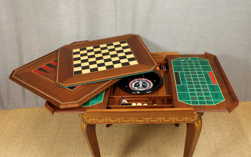 Lovely Italian Metamorphic Games Table. Antique ...