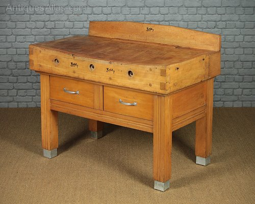 Fabulous Antiques Atlas Large Beech Butchers Block With Drawers C Theyellowbook Wood Chair Design Ideas Theyellowbookinfo