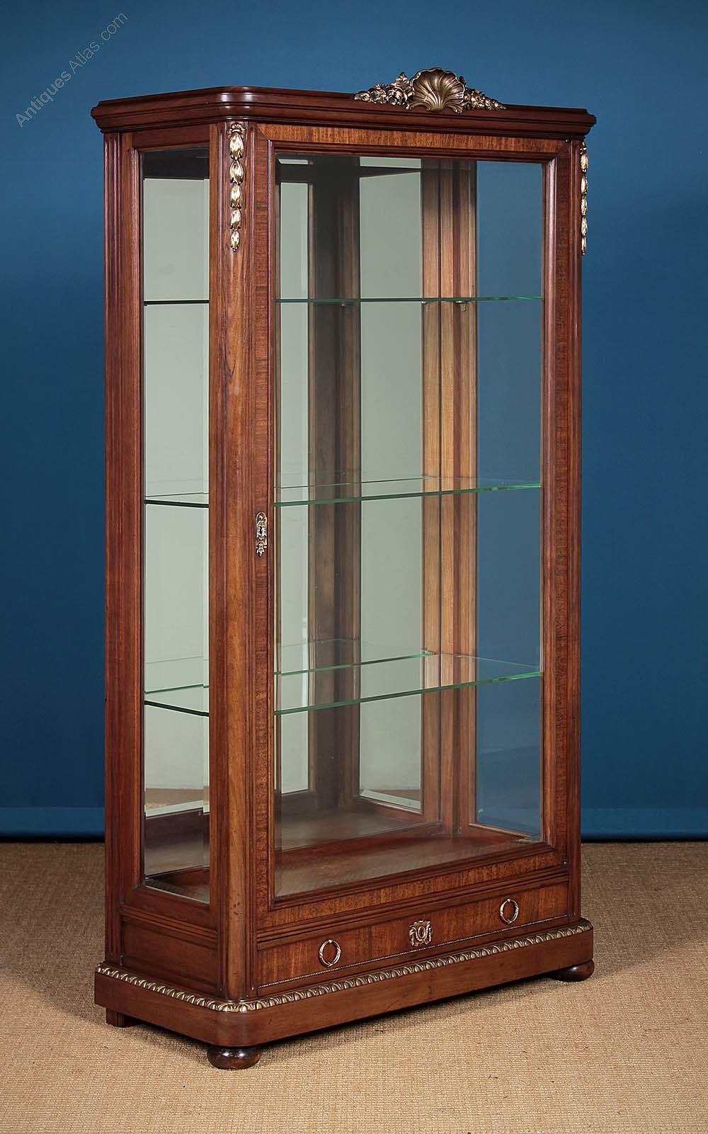 large brass mounted vitrine or display cabinet antiques atlas. Black Bedroom Furniture Sets. Home Design Ideas