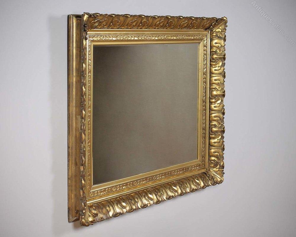 16ec2bc44dd7 Antiques Atlas - Large Gilt Frame Mirror C.1890.