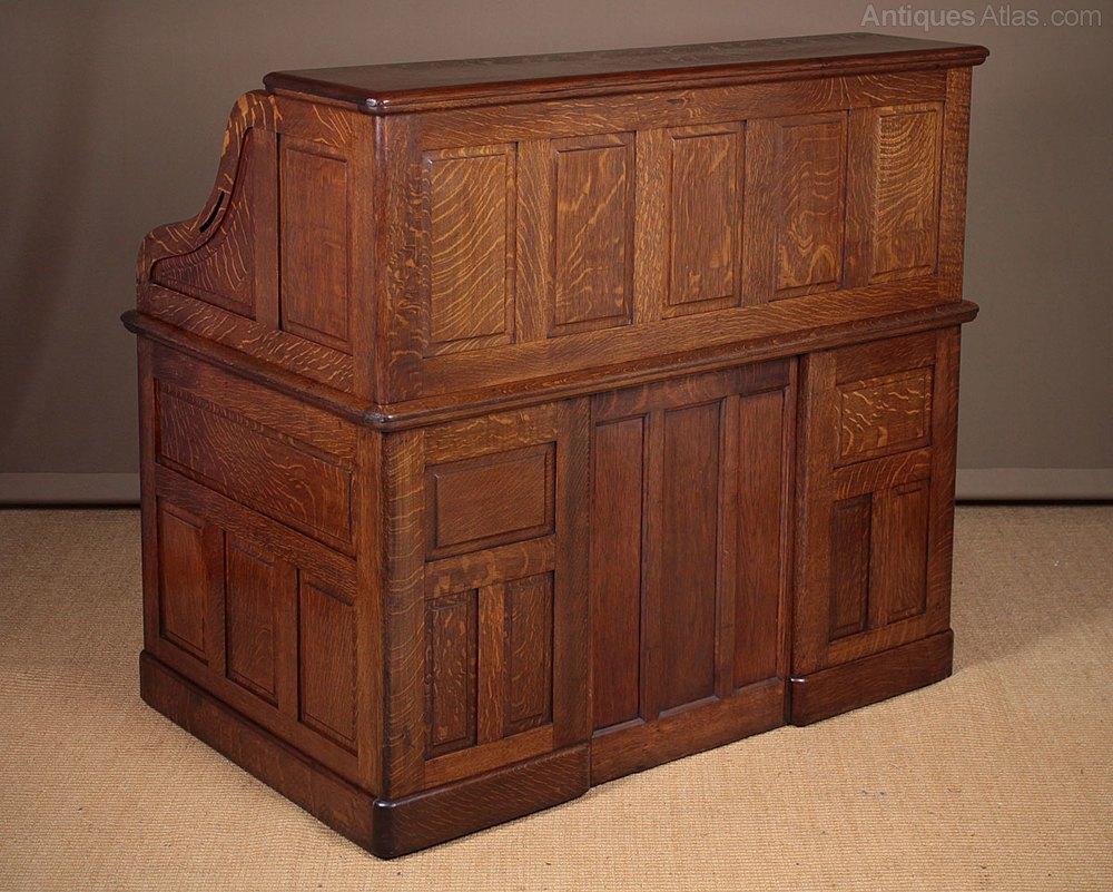 Large Oak Roll Top Desk C 1905 Antiques Atlas