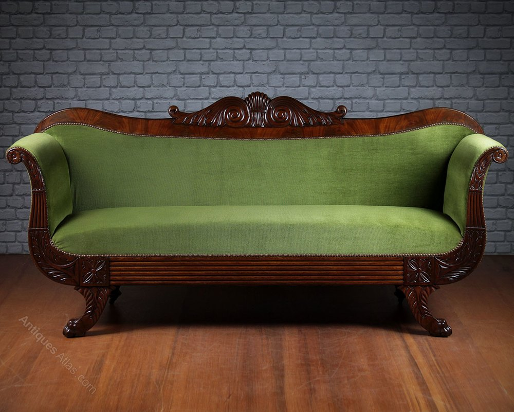 Large Regency Mahogany Sofa C 1815 Antiques Atlas