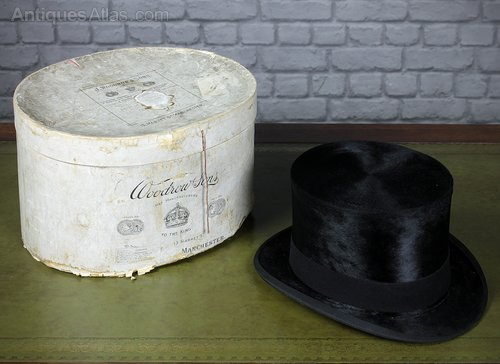 30c838960 Antiques Atlas - Large (Size 7¼) Top Hat By Christies Of London C.1910