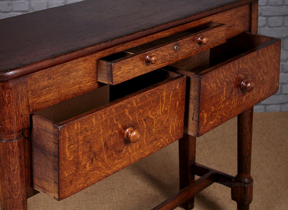 19th c shop counter table with drawers antiques for C table with drawer