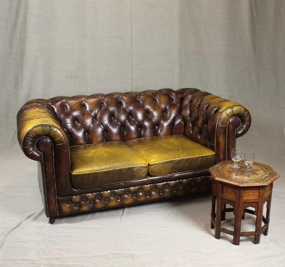 Antiques Atlas Leather Chesterfield Club Sofa