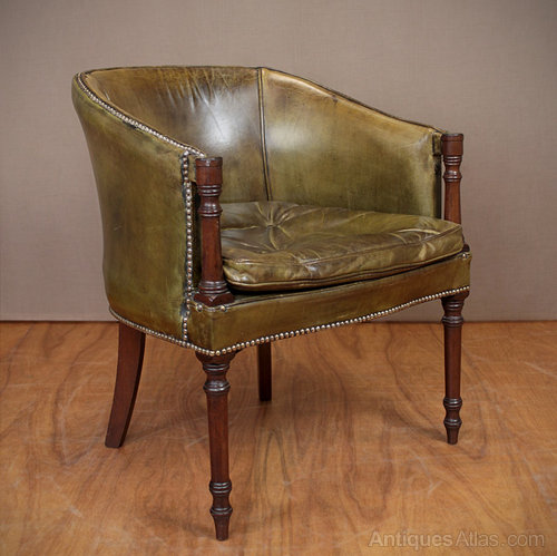 leather mahogany desk chair antiques atlas