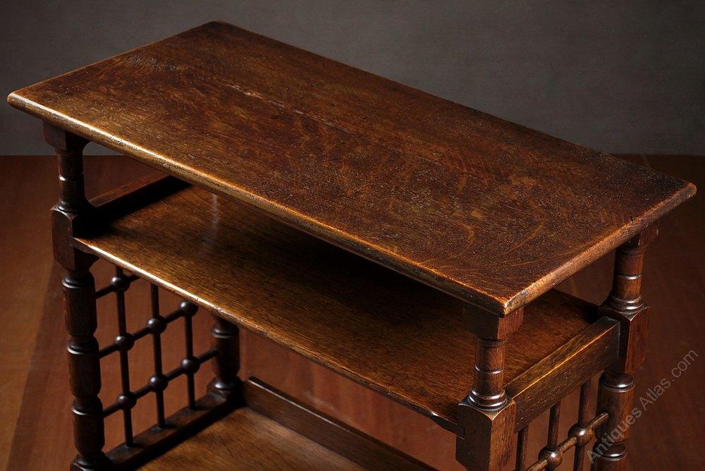Antique Reading Tables Oak Bookshelf Reading ...