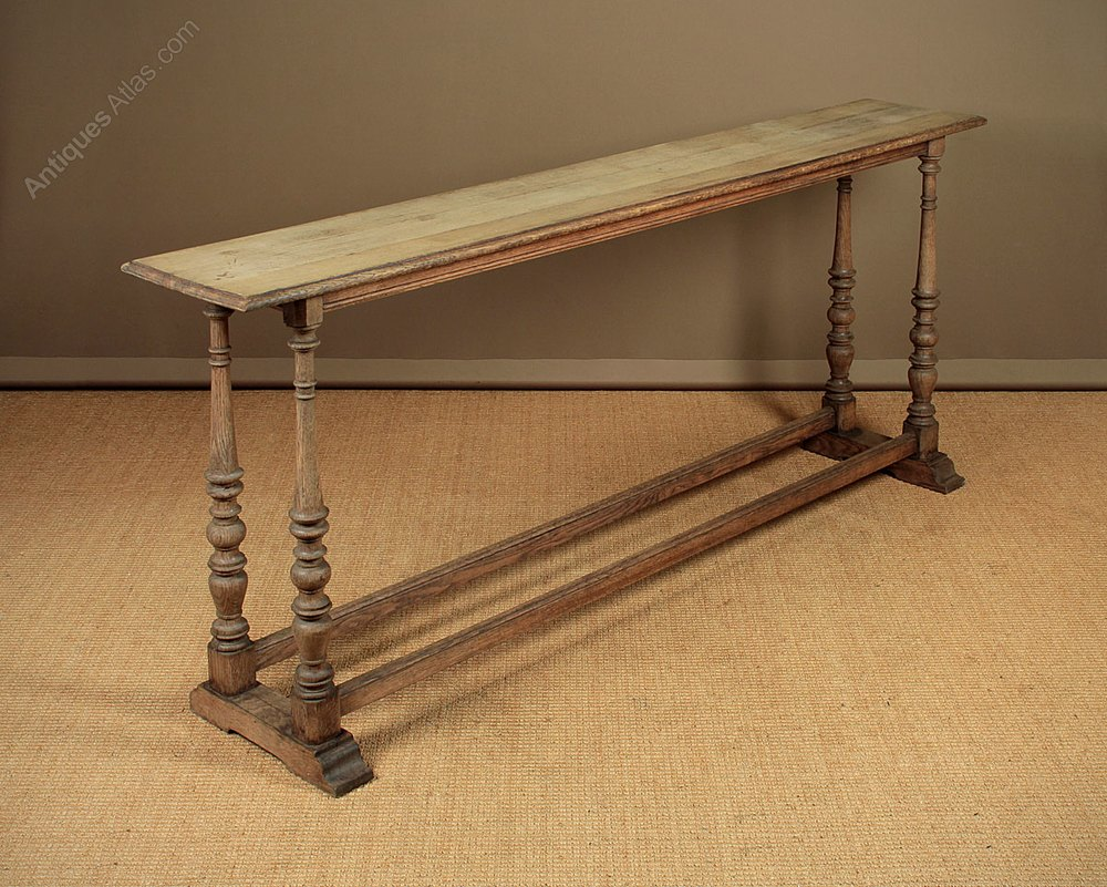 Long Narrow Oak Console Table C 1900
