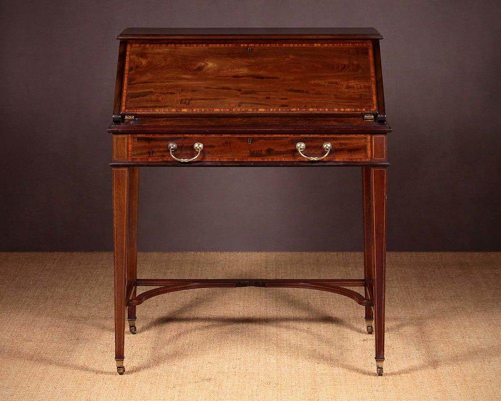 Mahogany Bureau Writing Desk By Maple Amp Co Antiques Atlas