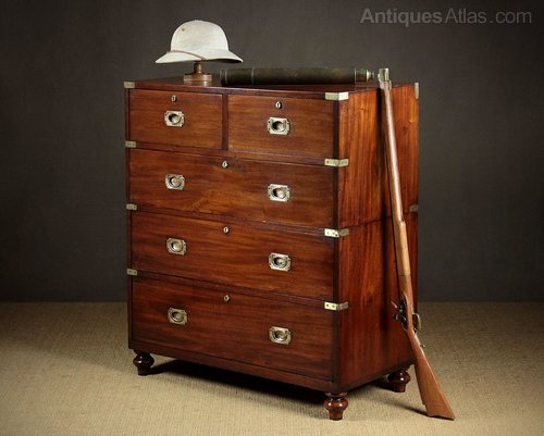 best service 15ddb 08cbc Mahogany Campaign Chest Of Drawers By Ross & Co. D ...