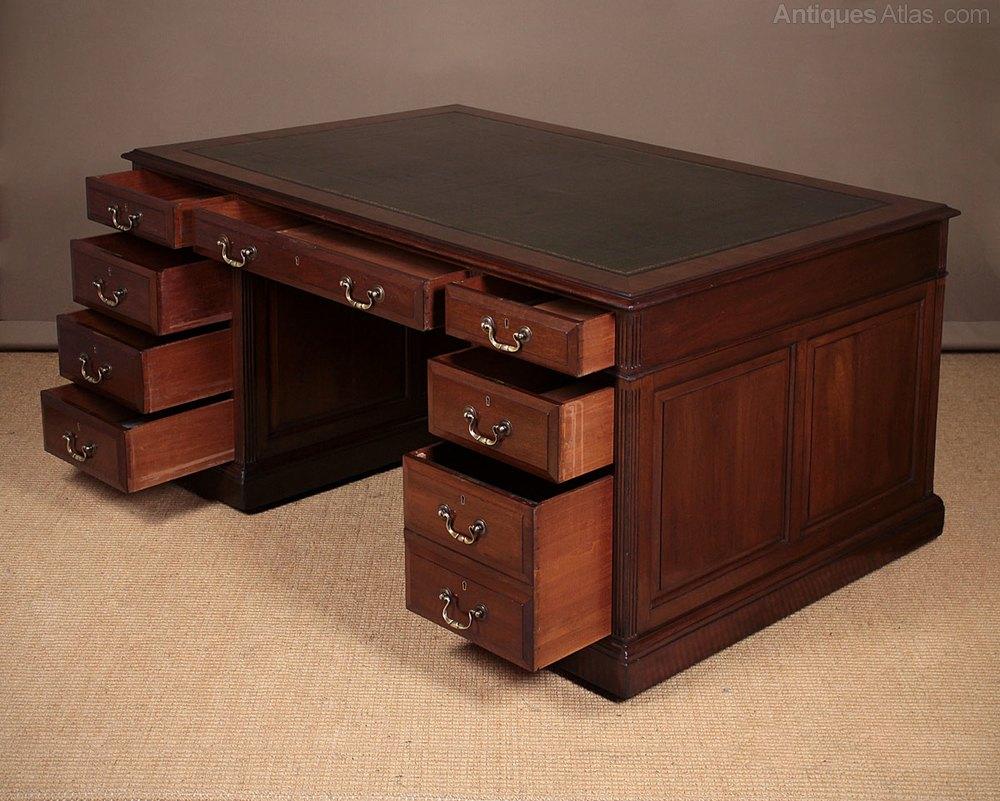 Antiques Atlas Mahogany Double Sided Partners