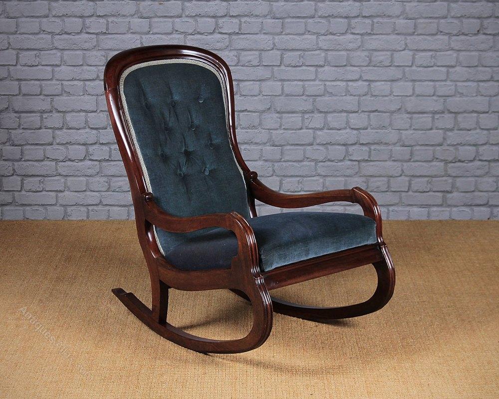 mahogany nursing rocking chair antiques atlas. Black Bedroom Furniture Sets. Home Design Ideas