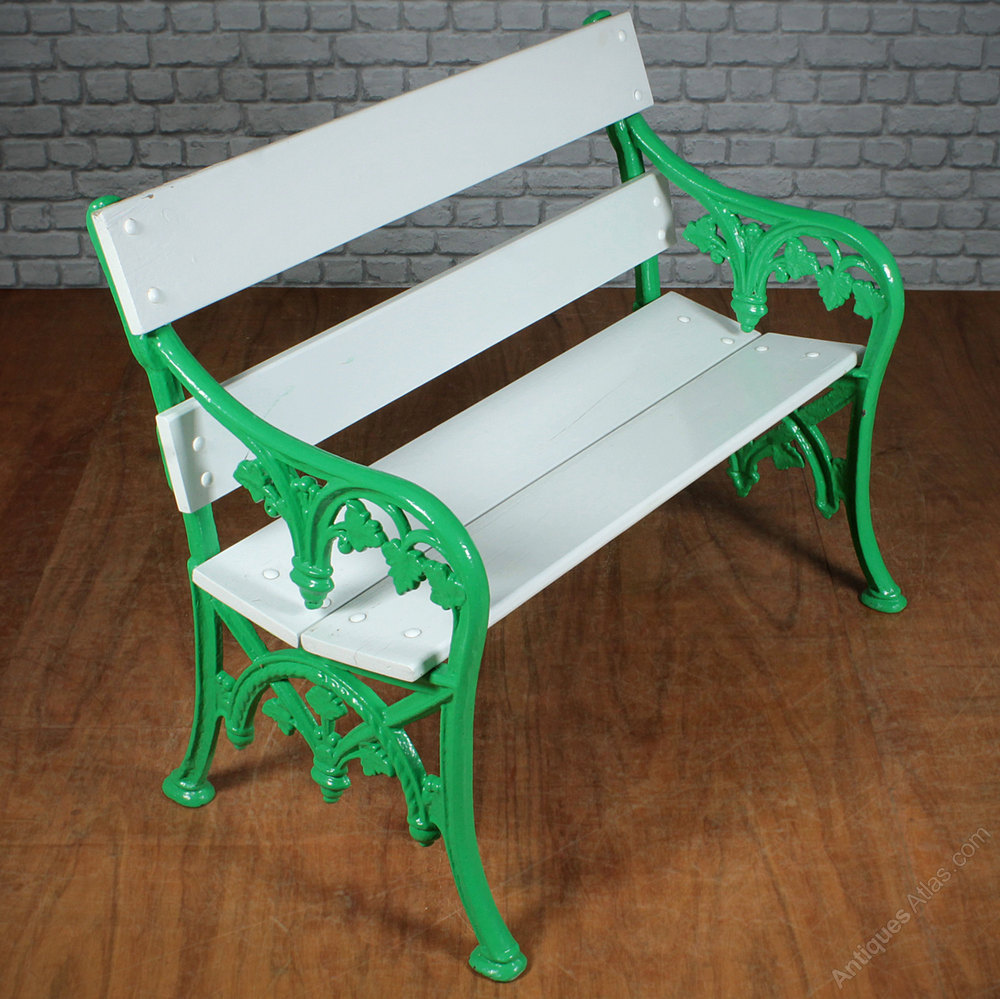 Antiques Atlas Pair 19th C Cast Iron Garden Benches C 1890