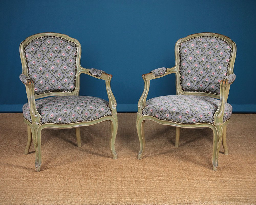 Pair 20th.c. French Salon Type Armchairs C.1930 ...