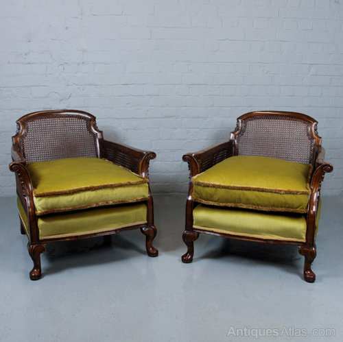 Pair Edwardian Bergere Armchairs. Antique Bergere Chairs ... - Pair Edwardian Bergere Armchairs. - Antiques Atlas