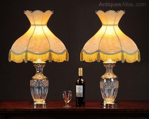 Antiques atlas pair cut glass table lamps pair cut glass table lamps mozeypictures Images