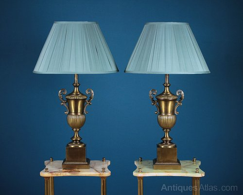 Antiques atlas pair large brass table lamps c1960 pair large brass table lamps c1960 aloadofball Gallery