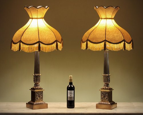 Antiques atlas pair large mid 20thc brass table lamps c1950 aloadofball Gallery