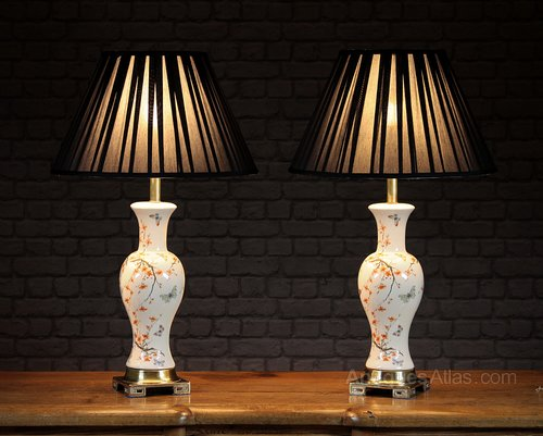Antiques Atlas Pair Oriental Style Table Lamps C 1960