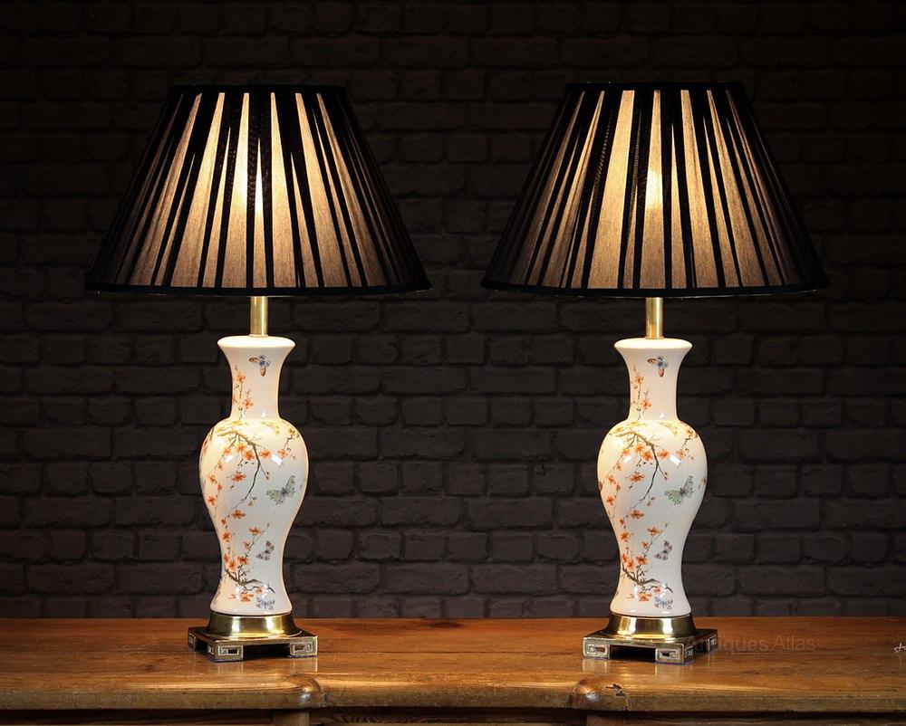 Antiques Atlas Pair Oriental Style Table Lamps C 1960