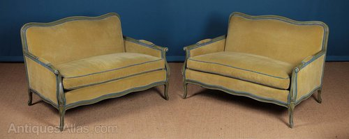 Fine Antiques Atlas Pair Small French Sofas C 1980 Ibusinesslaw Wood Chair Design Ideas Ibusinesslaworg