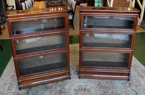 Pair Wernicke Oak Stacking Office Bookcases Antiques Atlas