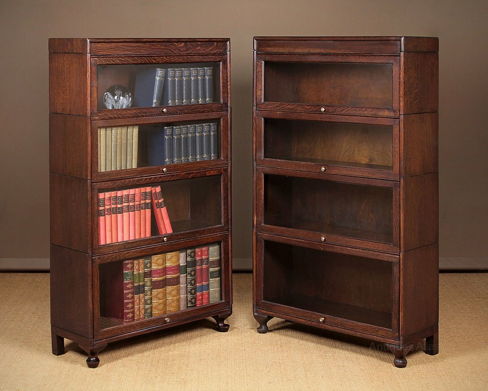 Pair Of Stacking Office Bookcases C 1920 Antiques Atlas