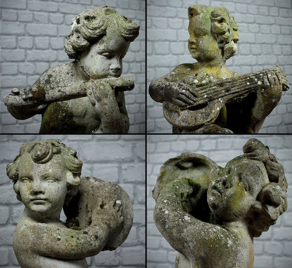 Quartet Of Garden Cherubs. Antique Statues ...