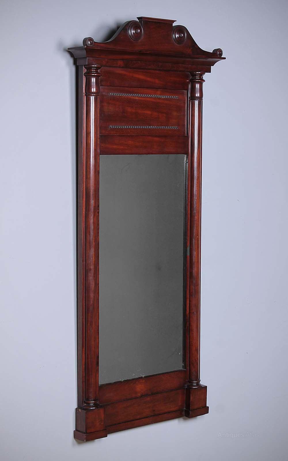 Antiques Atlas Regency Mahogany Hall Mirror Pier Glass C