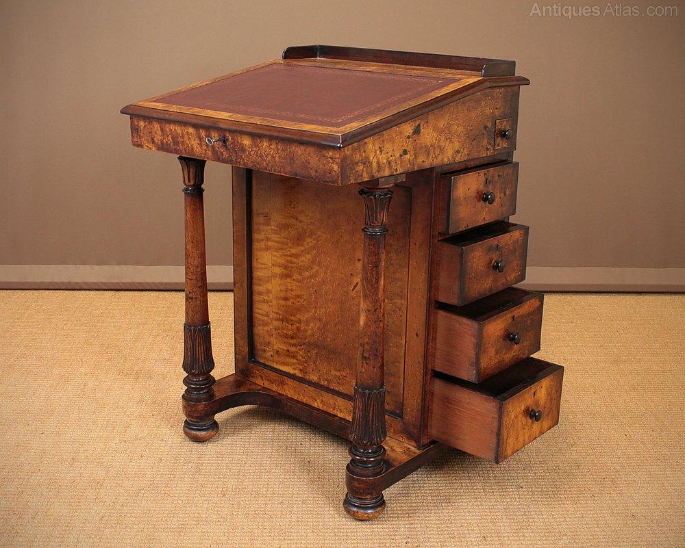 Small Davenport Writing Desk C 1830 Antique