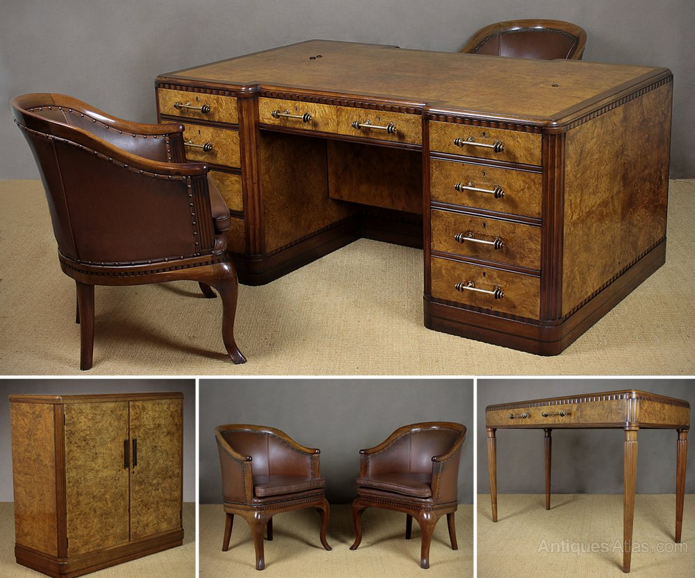Suite Of Art Deco Office Furniture C 1930 Antiques Atlas