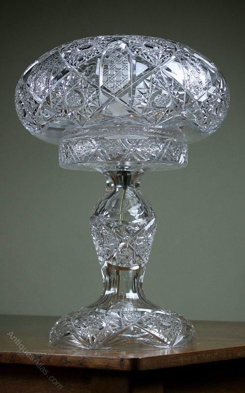 Antiques Atlas Very Large Cut Glass Table Lamp C 1930