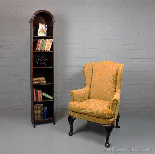 Very Narrow Oak Bookcase C 1920